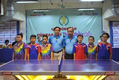 CLB Nam Định gặp CLB Đức Thanh (Hòa Bình) trong trận chung kết đồng đội nam U12.