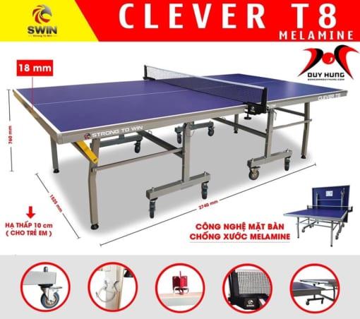bàn bóng bàn SWIN CLEVER T8