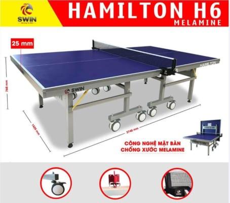 bàn bóng bàn SWIN HAMILTON H6