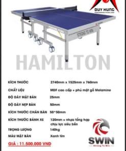 Bàn bóng bàn Swin HAMILTON